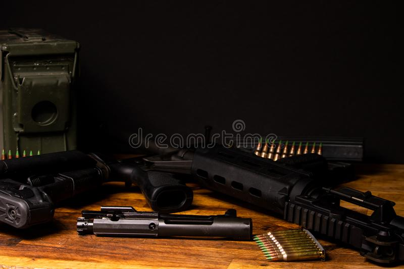 Rifle broken down royalty free stock image