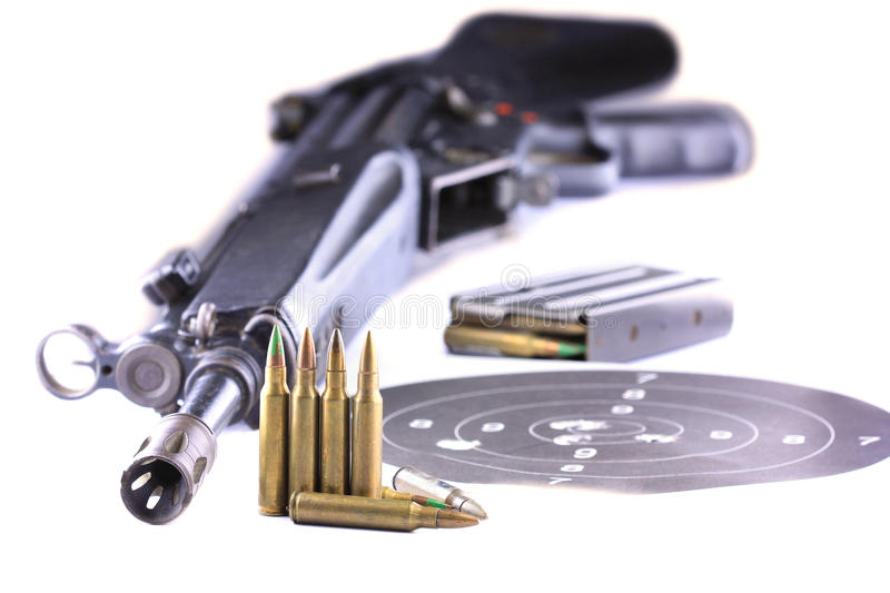 Download Rifle and Bullets stock image. Image of shooting, kill - 25859499