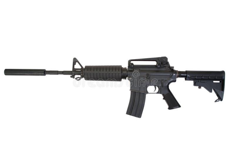 Rifle com silenciador fotos de stock