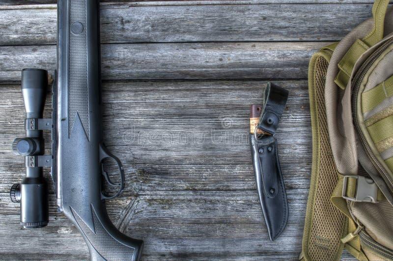 Rifle de ar com vista telescópica fotografia de stock