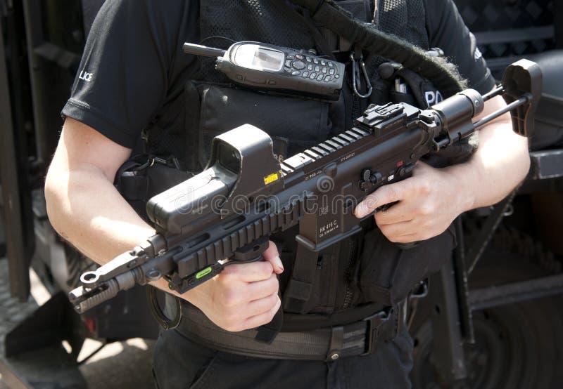 Rifle de asalto de HK 416 C del GOLPE VIOLENTO fotografía de archivo libre de regalías