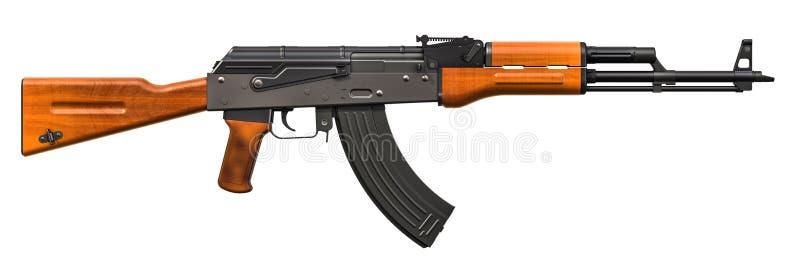 Rifle de asalto, representación 3D ilustración del vector
