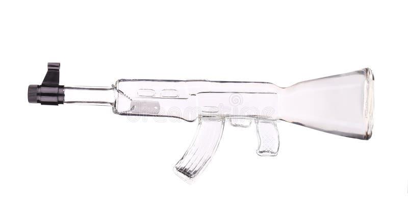 Rifle de vidro do Kalashnikov foto de stock royalty free