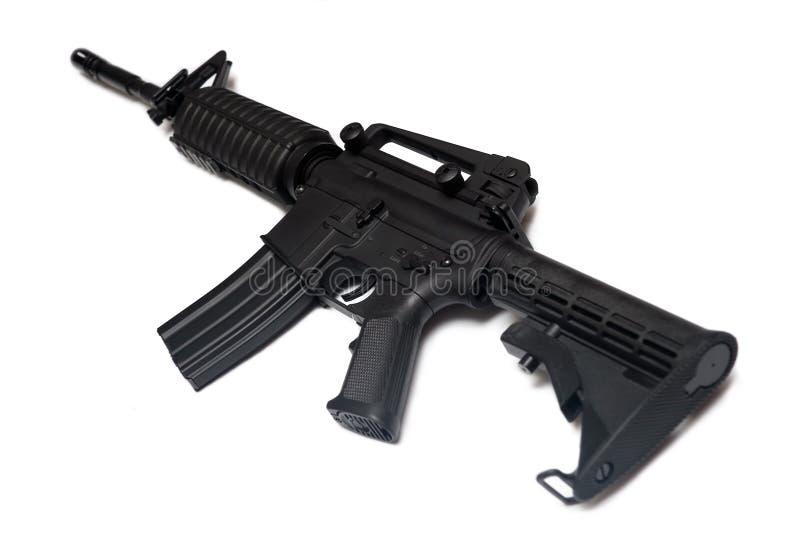 Rifle del Ejército del EE. UU. M4A1. Arma de las fuerzas especiales. fotografía de archivo