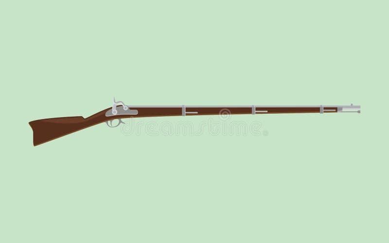 Rifle del fusil de chispa con el fondo verde libre illustration