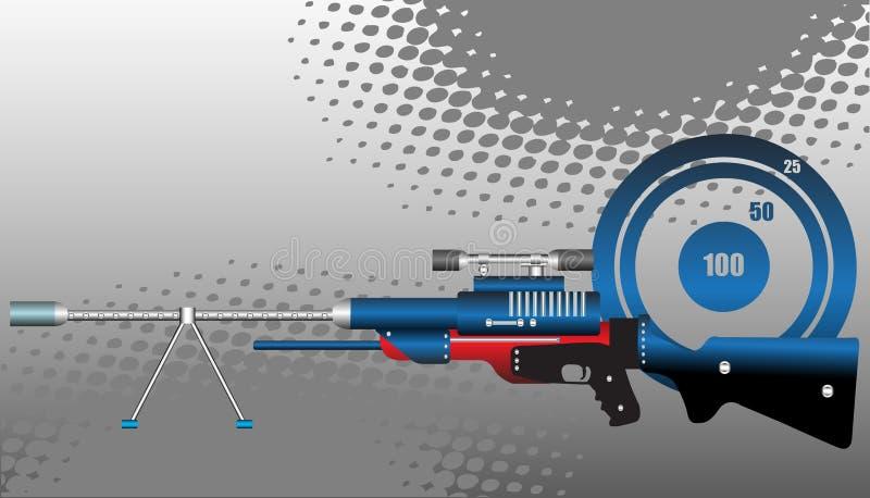 Rifle do atirador furtivo ilustração do vetor