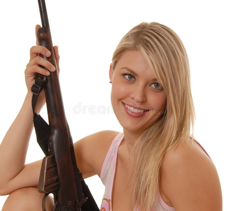 Rifle Lady Five royalty free stock photography