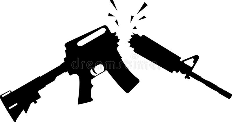 Rifle quebrado libre illustration