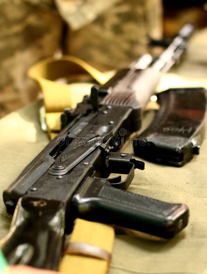 Rifle ruso URSS del arma automático del Kalashnikov de AK-47 fotos de archivo