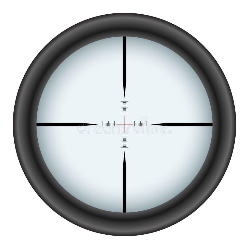Rifle scope crosshair. Isolated on white background vector illustration