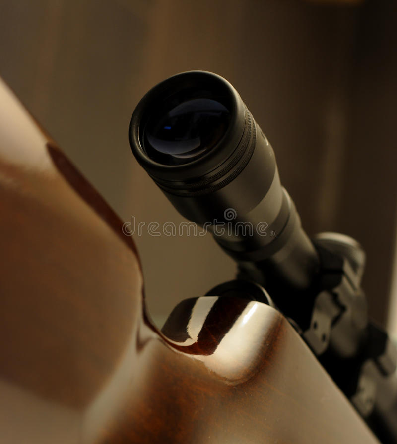 Rifle scope detail royalty free stock images