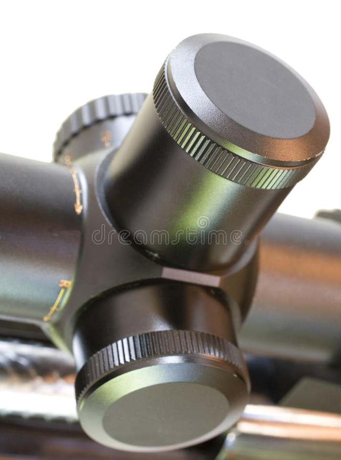 Rifle Scope Turrets Royalty Free Stock Photos