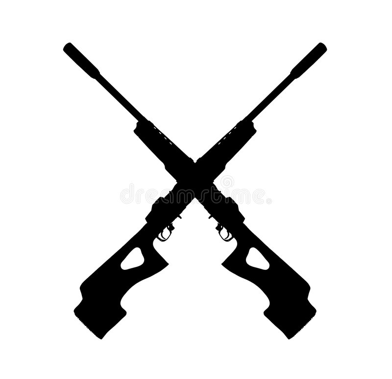 Rifle Sign royalty free stock image
