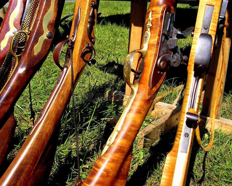 Rifles antigos foto de stock