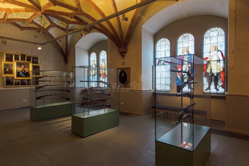 Rifles en el museo del castillo de Schwerin imagenes de archivo