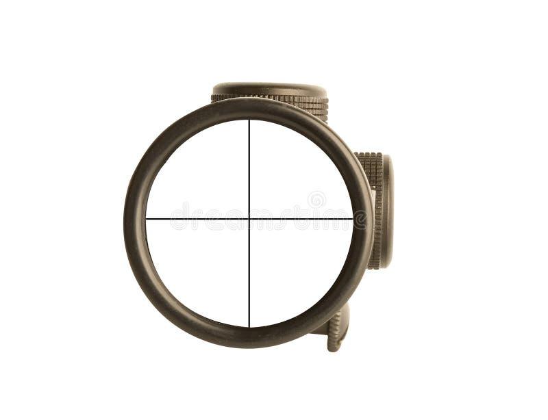 Riflescope concettuale di affari fotografia stock