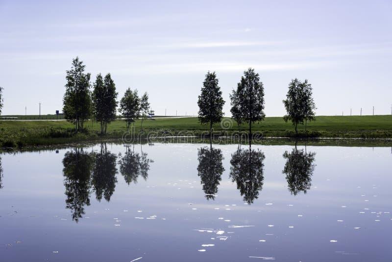 Riflessione in acqua fotografie stock