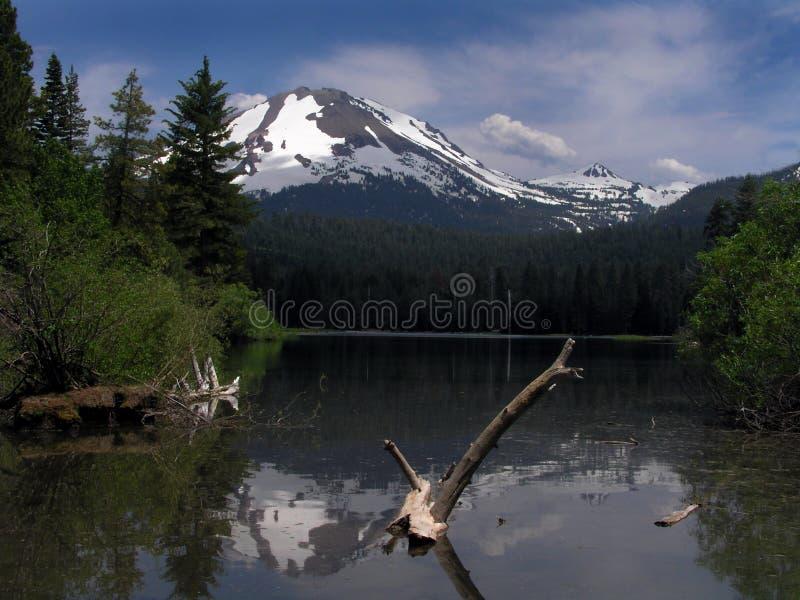 riflessione alpina della montagna fotografie stock