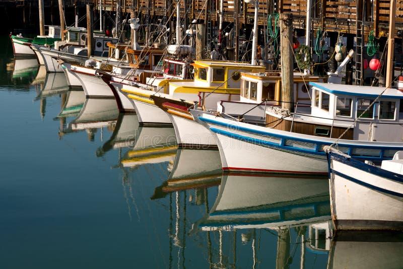 Riflessione dei pescherecci immagine stock libera da diritti