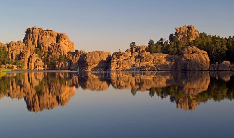 Riflessione del lago Sylvan immagini stock