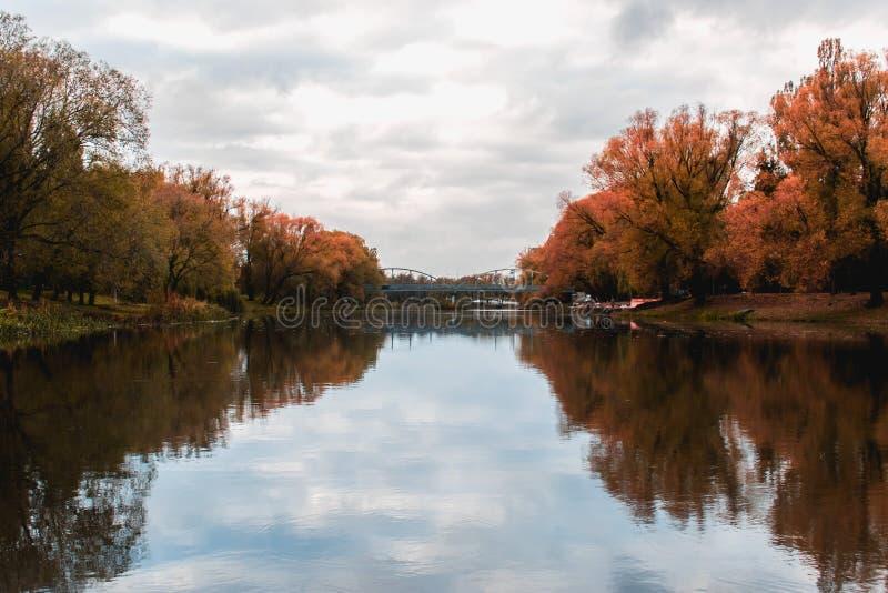 Riflessione dell'autunno fotografia stock