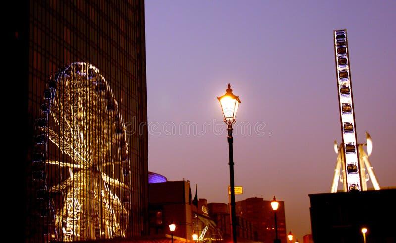 Riflessione dell'occhio di Birmingham fotografia stock
