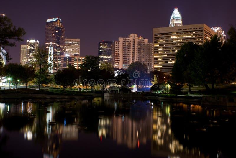 Riflessione dell'orizzonte - Charlotte NC fotografia stock