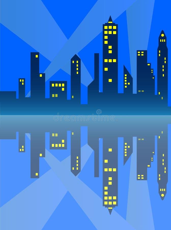 Riflessione della città illustrazione vettoriale