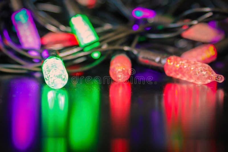 Riflessione delle luci colorate immagini stock libere da diritti