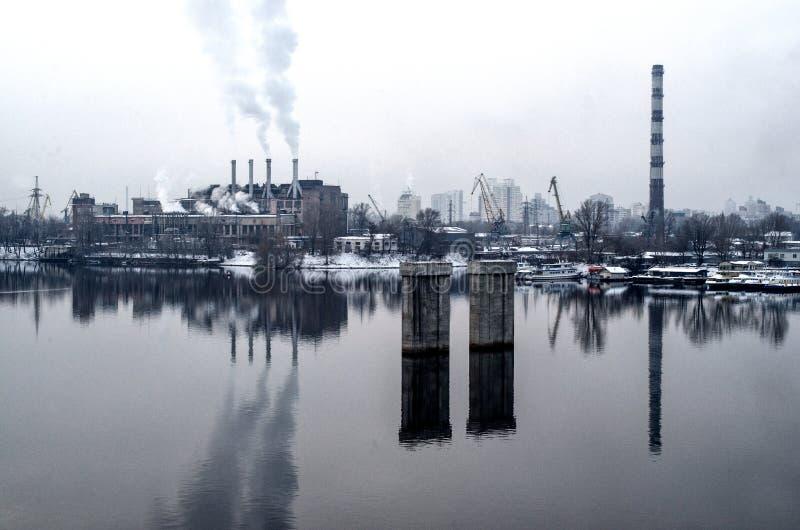 Riflessione di paesaggio urbano della pianta fotografia stock libera da diritti