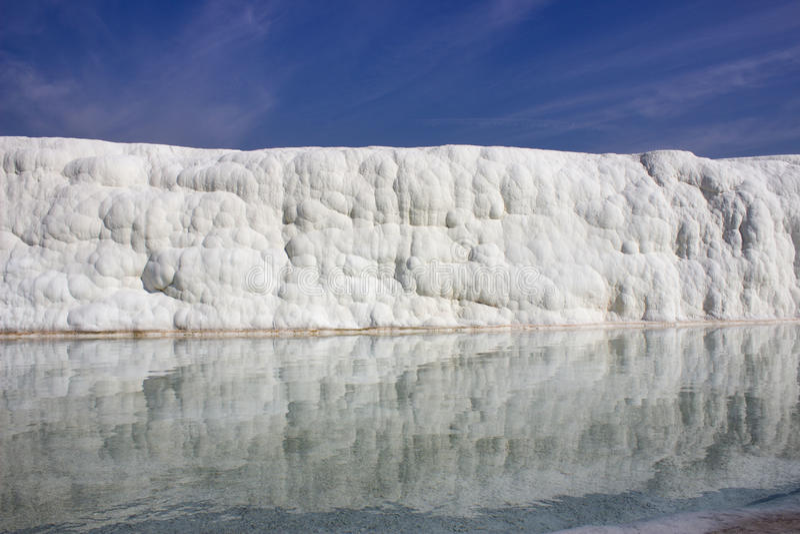 Riflessione nei giacimenti dell'acqua delle rocce calcaree fotografia stock