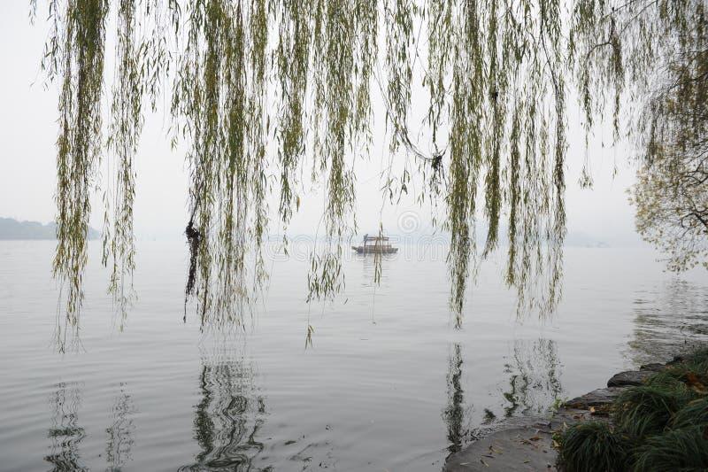 Riflessione nel lago XiHu fotografie stock libere da diritti