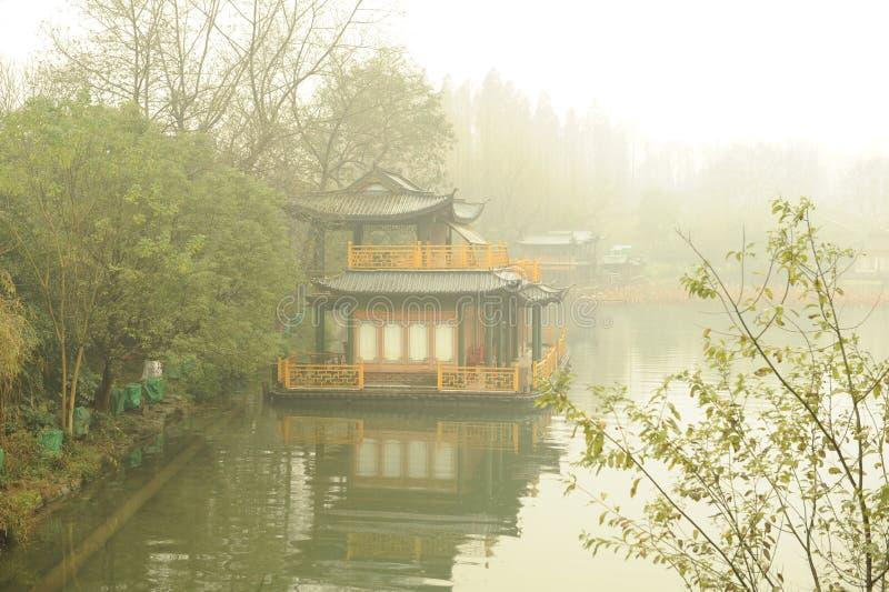 Riflessione nel lago XiHu fotografia stock