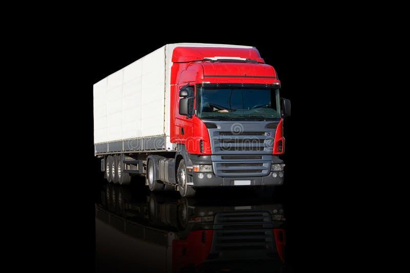 Riflessione rossa del camion immagini stock libere da diritti