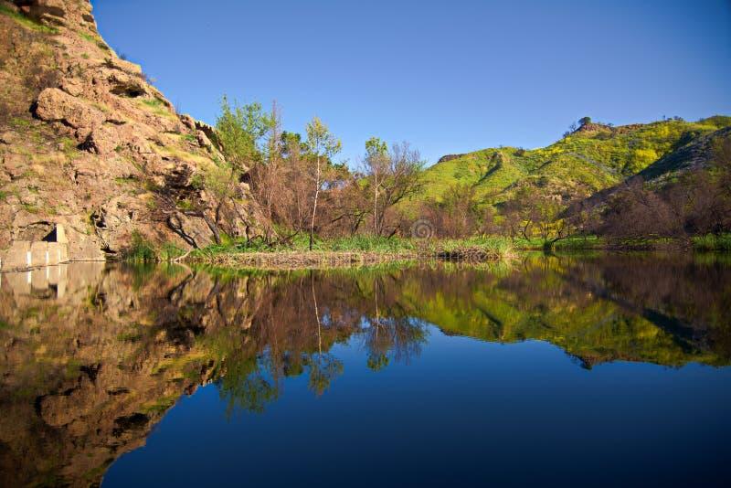 Riflessioni del lago century fotografia stock libera da diritti