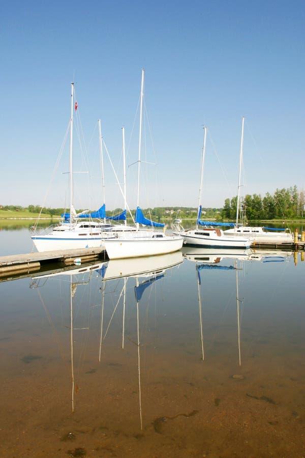 Riflessioni della barca fotografia stock libera da diritti
