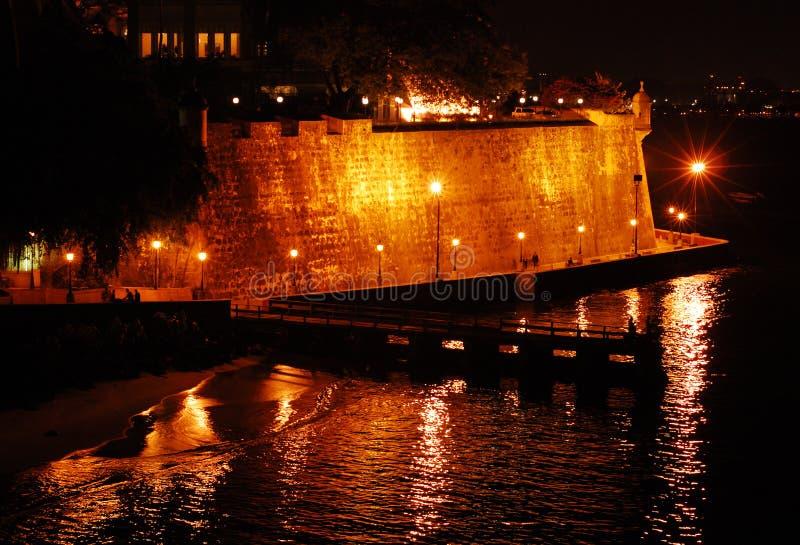 Riflessioni della fortificazione di EL Moro fotografie stock libere da diritti