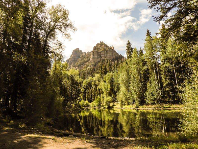 Riflessioni di Colorado il Cimarron fotografia stock libera da diritti