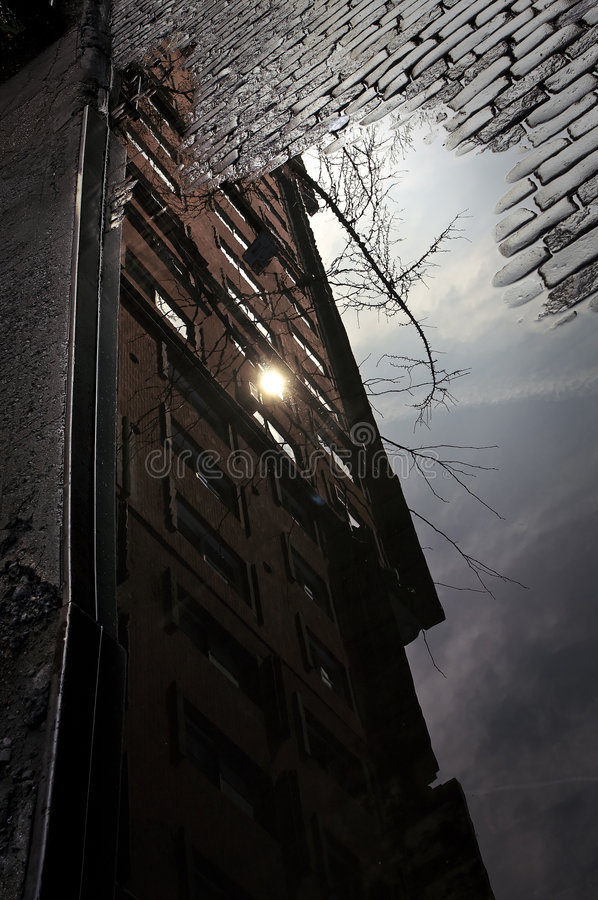 Riflessioni di paesaggio urbano fotografia stock