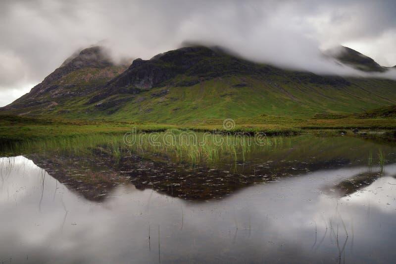 Riflessioni a Glencoe Scozia, Regno Unito fotografia stock