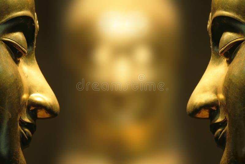Riflesso del fronte del Buddha fotografia stock