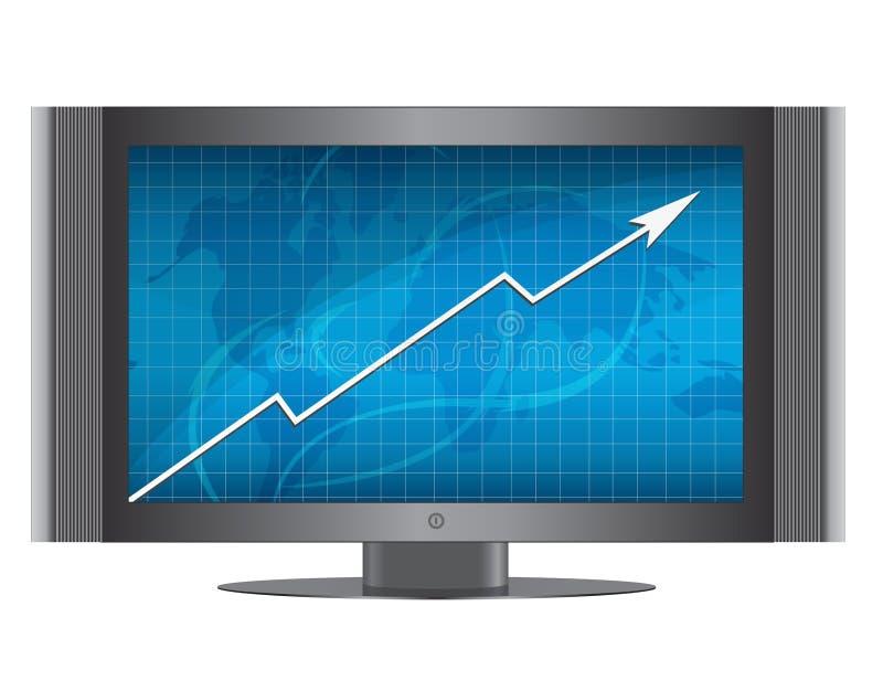 Rifletta il grafico di sviluppo illustrazione vettoriale