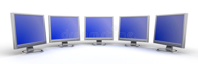 Download Riflette lo schermo piano illustrazione di stock. Illustrazione di calcolatore - 3891772