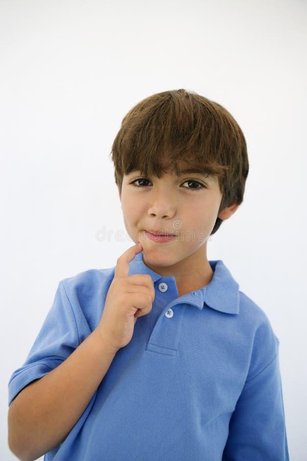 Riflettere di Little Boy fotografie stock
