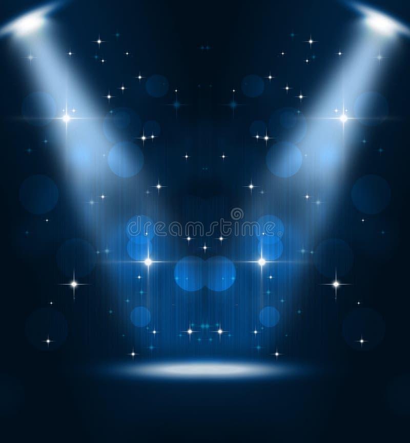 Riflettori della fase di musica illustrazione vettoriale