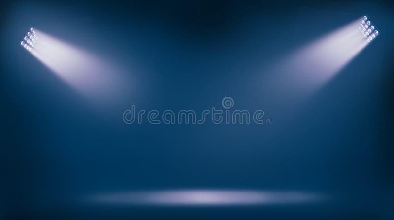 Riflettori delle luci dello stadio di calcio immagine stock