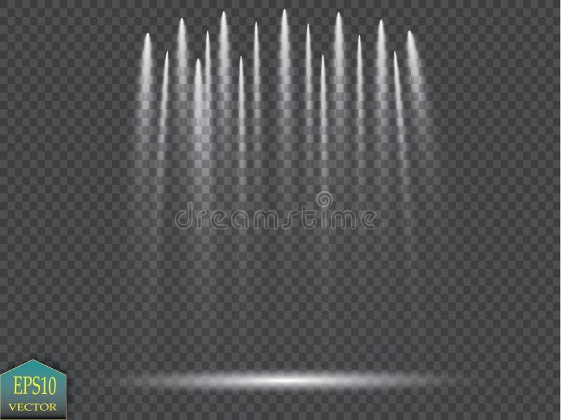 Riflettori di vettore scena Effetti della luce royalty illustrazione gratis