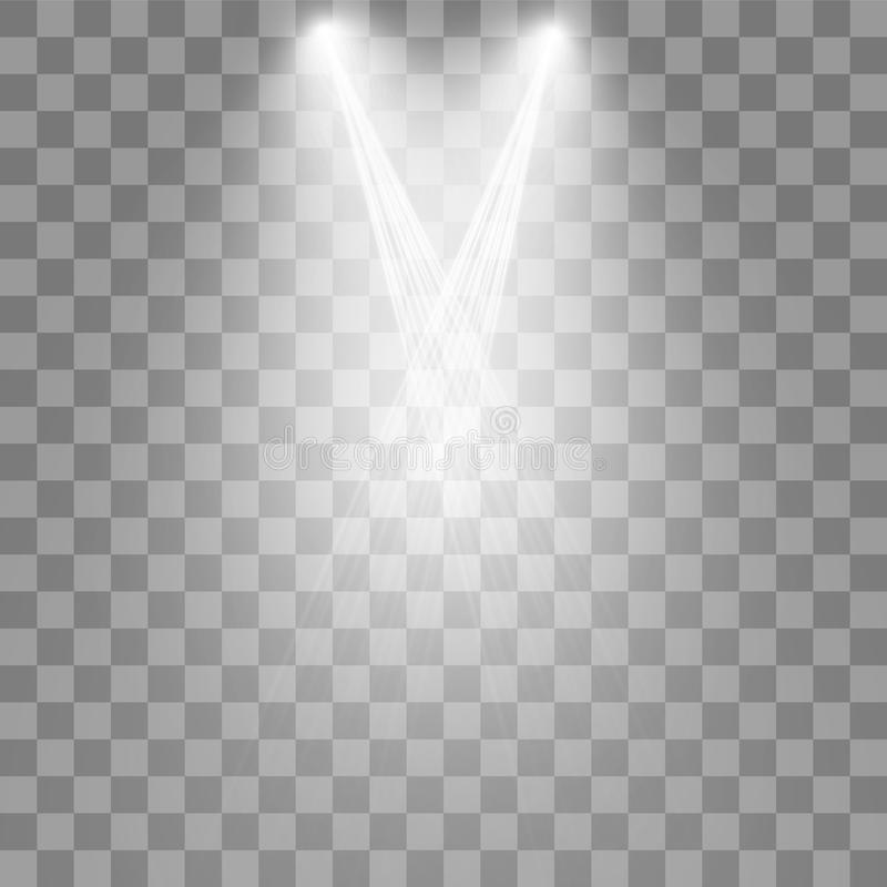 Riflettori di vettore scena Effetti della luce illustrazione vettoriale