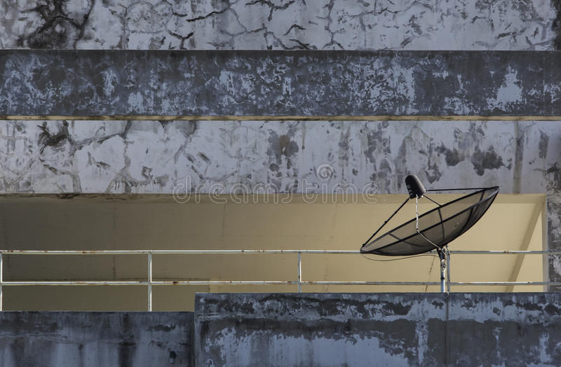 Riflettori parabolici neri illustrazione vettoriale