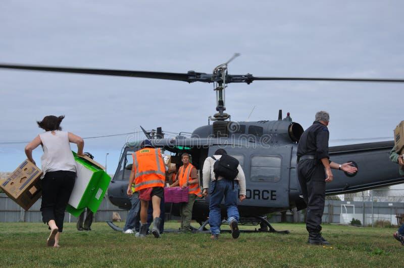 Rifornimenti dell'elicottero immagini stock